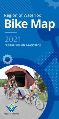 cover of the Region of Waterloo Bike Map 2021