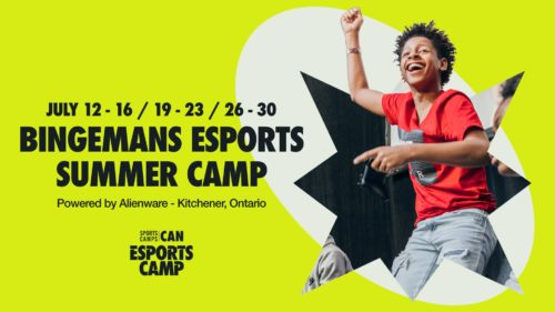 poster for Bingemans' summer esports camps happening in July 2021